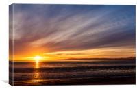 Morecambe bay sunset, Canvas Print