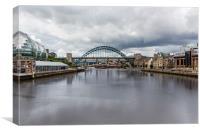 Newcastle and Gateshead quays, Canvas Print
