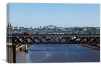 Bridges of Newcastle on Tyne, Canvas Print