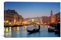 Rialto Bridge, Venice - Italy, Canvas Print