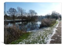 Winter on the River Avon, Canvas Print