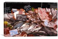 French fish counter, Canvas Print