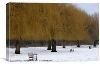 Winter Golden Trees, Canvas Print