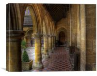 Almshouse, Canvas Print