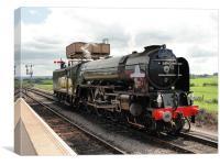 Tornado steam train, Canvas Print