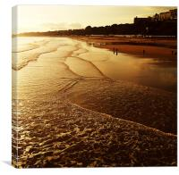 Bournemouth Coast, Canvas Print