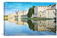 Reflections from Leeds Castle, Canvas Print