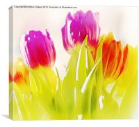 Painted Tulips, Canvas Print