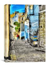 A back street in St. Ives, Canvas Print
