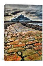 St. Michaels Mount and Causeway, Canvas Print