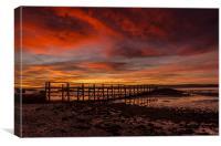 Culross Pier Sunrise, Canvas Print