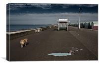 Brighton Dogs, Canvas Print