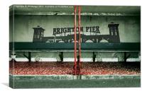 Brighton Pier Shelter, Canvas Print