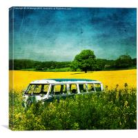 Retro VW Camper Van, Canvas Print