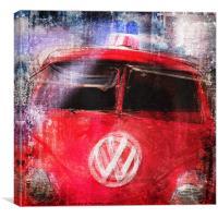 VW Fire Engine, Canvas Print