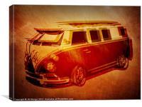 VW Camper Graffiti Stencil, Canvas Print