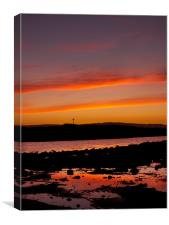 St. Cuthbert island sunset, Canvas Print