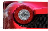 Ferrari red round rear light, Canvas Print