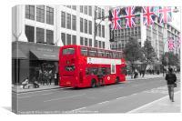 Very British London Bus 2012, Canvas Print