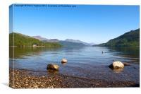 Views across Loch Lomond Scotland, Canvas Print