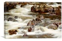 Fast Flowing over the Rocks, Canvas Print