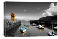 Isolations in Lynmouth North Devon, Canvas Print