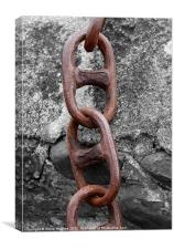 Isolated Rusty Chain, Canvas Print