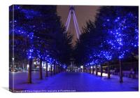 London Eye Blue Trees, Canvas Print