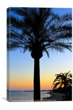 Sunset on the Mediterranean, Canvas Print