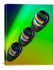 Rainbows on a cd, Canvas Print