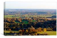 Autumnal views from Box Hill, Canvas Print