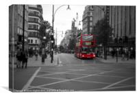 London Red Bus Route 6, Canvas Print