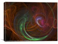 Fractal digital smoke effect, Canvas Print