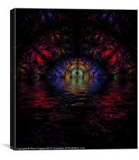 Fractal stained glass with flood, Canvas Print