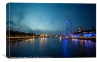 Looking down the Thames, Canvas Print