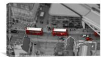 London Buses from above, Canvas Print