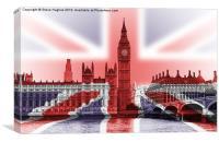 Big Ben Union Jack, Canvas Print