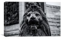 Trafalgar Square Lion, Canvas Print