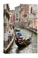 Gondola in Venice, Canvas Print