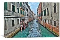 Venetian Canals Italy, Canvas Print