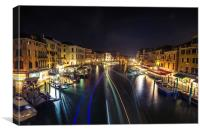 Evening from Rialto Bridge, Canvas Print