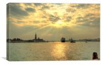 Venice cruise ship, Canvas Print