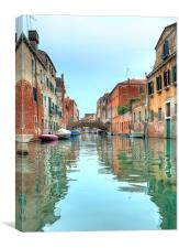 Venetian waterway, Canvas Print