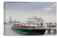 Cruising around Venice, Canvas Print