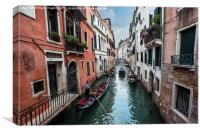 Venice canal scene, Canvas Print