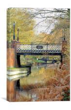 Kiln Bridge in Autumn, Canvas Print