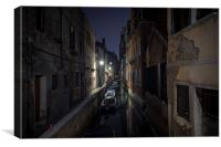 Venetian night view, Canvas Print