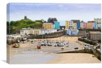Tenby-Pembrokeshire-Wales tilt shift, Canvas Print