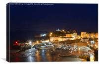 Tenby-Pembrokeshire-Wales night time, Canvas Print
