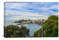 Tenby harbour from across the bay, Canvas Print